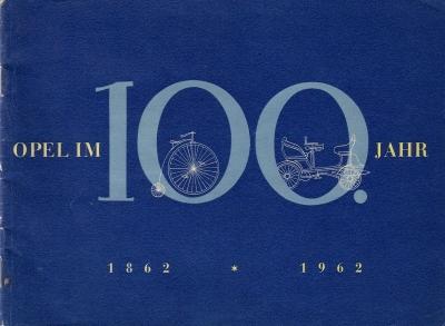 Opel im 100. Jahr 1862-1962 Broschüre