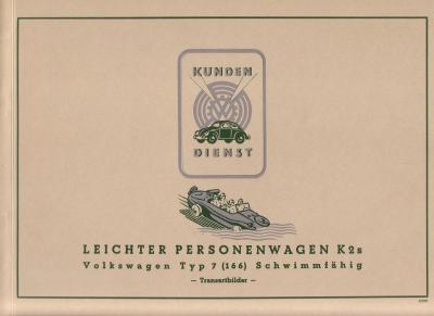 VW KdF-Wagen Typ 7 (166) Prospekt REPRINT 1980er Jahre