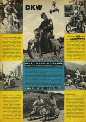 DKW Hobby Prospekt 9.1954