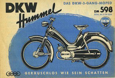 DKW Hummel Prospekt ca. 1957