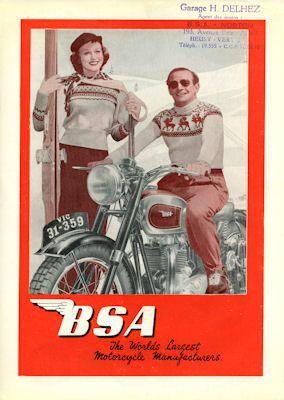 BSA Programm 1950er Jahre f