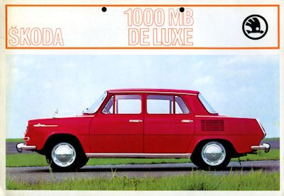 Skoda 1000 MB de Luxe Prospekt ca. 1969
