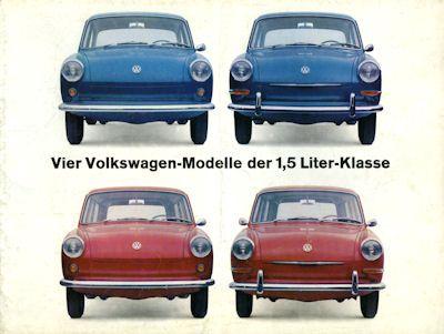 VW 1500 Prospekt 8.1963
