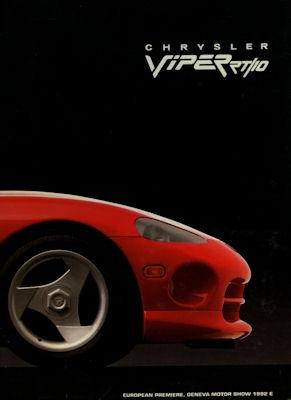 Chrysler Viper RT / 10 Pressemappe Genf 1992