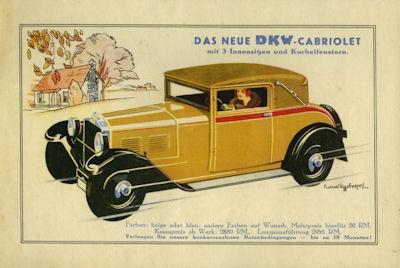 DKW Cabriolet Prospekt ca. 1930