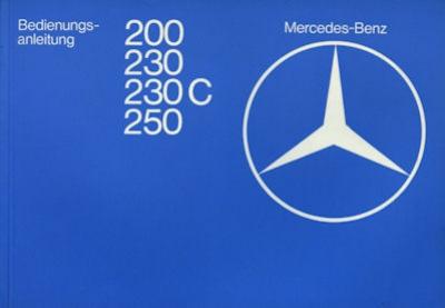 Mercedes-Benz 200-250 Bedienungsanleitung 7.1977