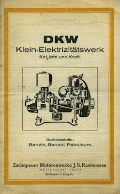 DKW Klein-Elektrizitätswerk Prospekt 1920er Jahre