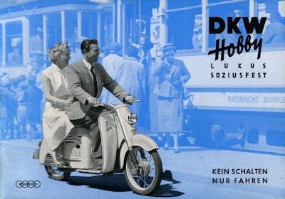 DKW Hobby Luxus Prospekt ca. 1955