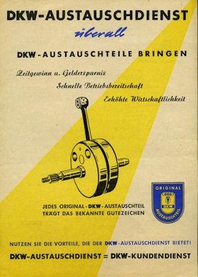 DKW Austauschdienst Prospekt ca. 1955