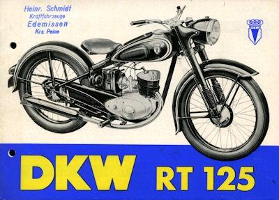 DKW RT 125 Prospekt 10.1953