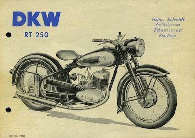 DKW RT 250 Prospekt 10.1952