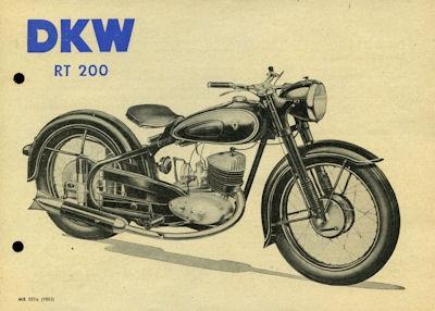 DKW RT 200 Prospekt 10.1952