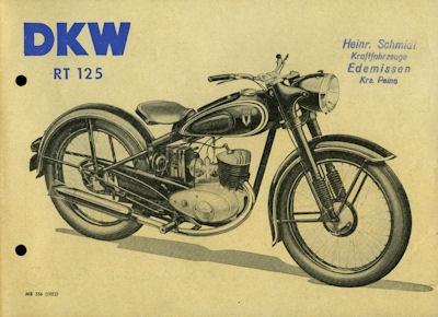 DKW RT 125 Prospekt 10.1952