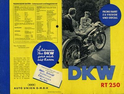 DKW RT 250 Prospekt 1952