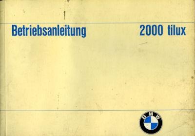 BMW 2000 tilux Bedienungsanleitung 1967