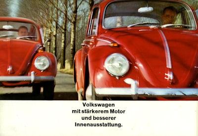 VW Käfer Prospekt 8.1965