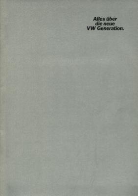 VW Neue Generation Prospekt 1976