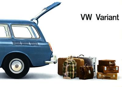 VW 1500 Variant Prospekt ca. 1963