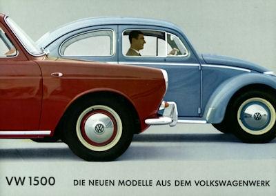 VW 1500 Prospekt ca. 1961