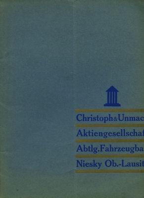 Christoph & Unmack Anhänger Prospekt 1936