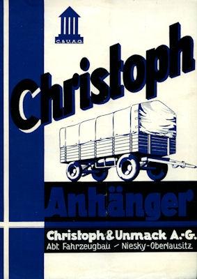 Christoph & Unmack Anhänger Prospekt 1936 1