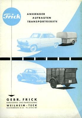 Autoanhänger Frick Prospekt 1950er Jahre