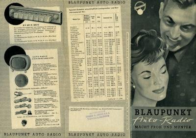 Autoradio Blaupunkt Programm 1956