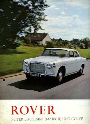Rover 3 Litre MK.III Saloon and Coupe Prospekt 1960er Jahre