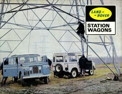 Landrover Stationwagons Prospekt 1960er Jahre