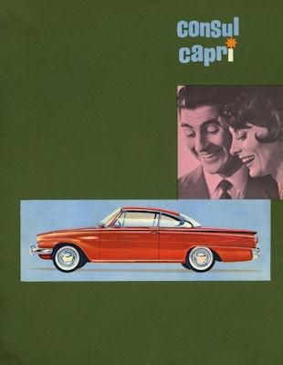 Ford Consul Capri Prospekt 1962