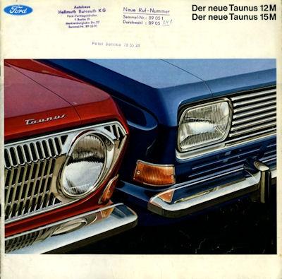 Ford Taunus 12 15 M P 6 Prospekt ca. 1967
