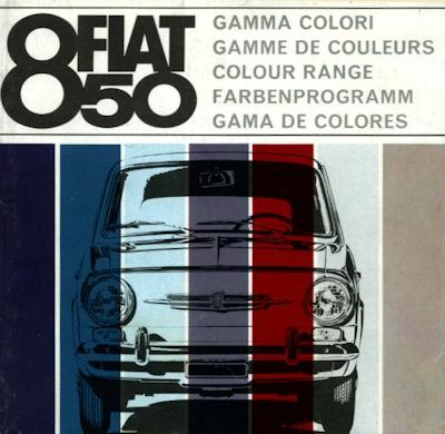 Fiat 850 Farben ca. 1966
