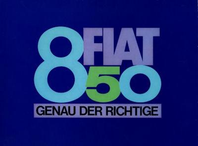 Fiat 850 Prospekt ca. 1964