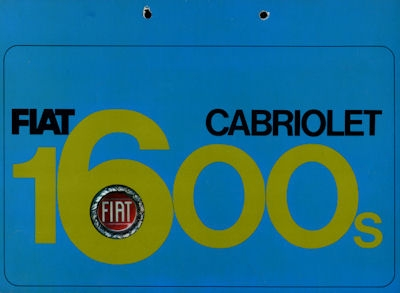 Fiat 1600 S Cabriolet Prospekt ca. 1962