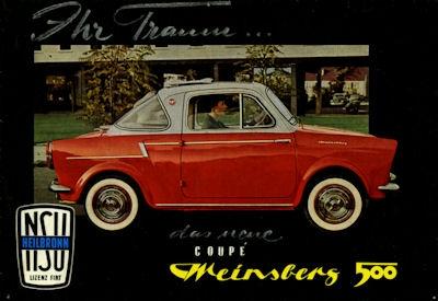 NSU-Fiat Weinsberg 500 Coupe Prospekt ca. 1959