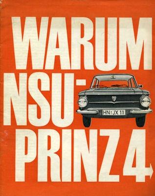 NSU Prinz 4 -Warum- Prospekt ca. 1964