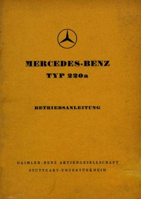 Mercedes-Benz 220a Bedienungsanleitung 1956