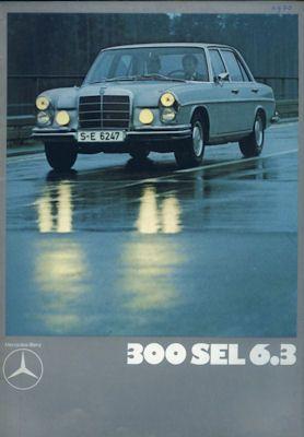Mercedes-Benz 300 SEL 6.3 Prospekt 12.1971