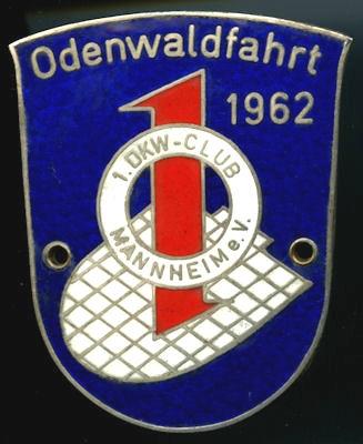 Plakette Odenwaldfahrt 1962
