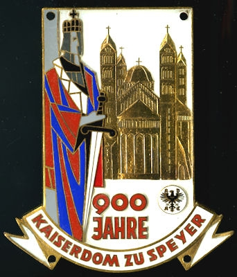 Plakette 900 Jahre Kaiserdom Speyer 1961