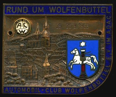 Plakette ADAC Rund um Wolfenbüttel 1965