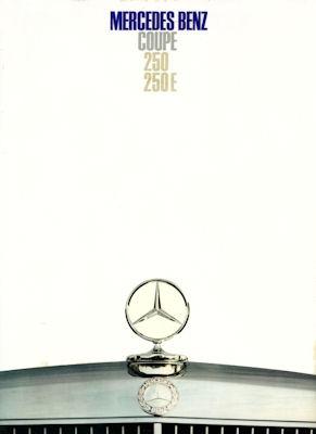 Mercedes-Benz Coupe 250 / 250 E Prospekt 10.1968
