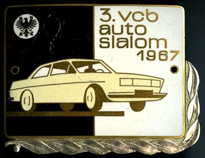 Plakette 3. VCB Auto Slalom 1967