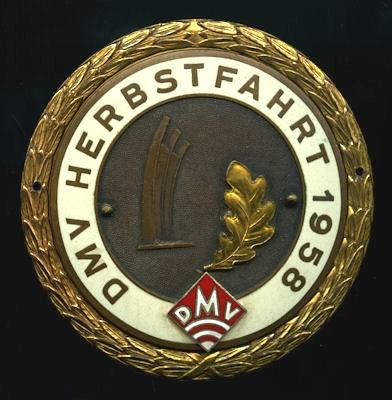 Plakette DMV Herbstfahrt Berlin 1958