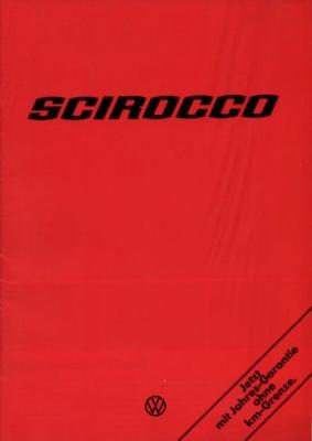 VW Scirocco Prospekt 8.1975