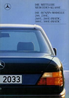 Mercedes-Benz 200-300E 4Matic Prospekt 1988