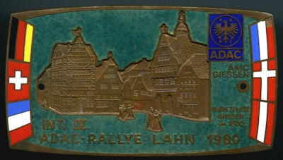 Plakette ADAC Rallye Lahn 1980