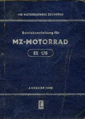MZ ES 175 Bedienungsanleitung 1958