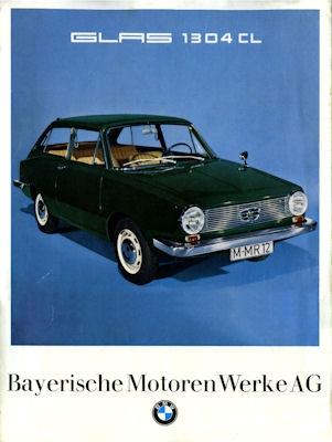 BMW Glas 1304 CL Prospekt 2.1967