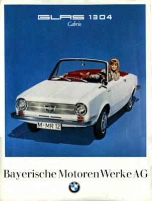 BMW Glas 1304 Cabriolet Prospekt 2.1967